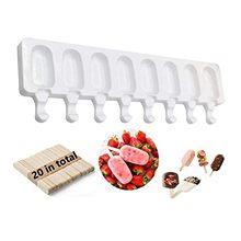 8 células de silicone congelado sorvete molde suco picolé fabricante crianças pop molde lolly bandeja acessórios cozinha móveis accessori