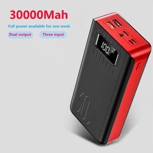 Image 4 - チー急速充電電源銀行 30000mah poverbank typecマイクロusb powerbank ledポータブル外部バッテリー