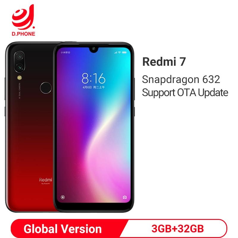Original Global Version Xiaomi Redmi 7 3GB RAM 32GB ROM Snapdragon 632 Octa Core 12MP 6.26 Full Screen 4000mAh Smartphone