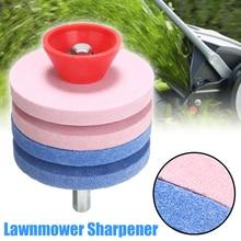 2Pcs Lawnmower Sharpener Round Rotary Drill Blade Sharpening Faster Mowing Sharpeners Home Garden Tool