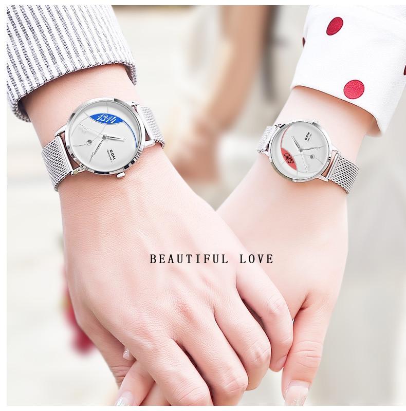 relógio de quartzo casual quartzo-relógio de couro