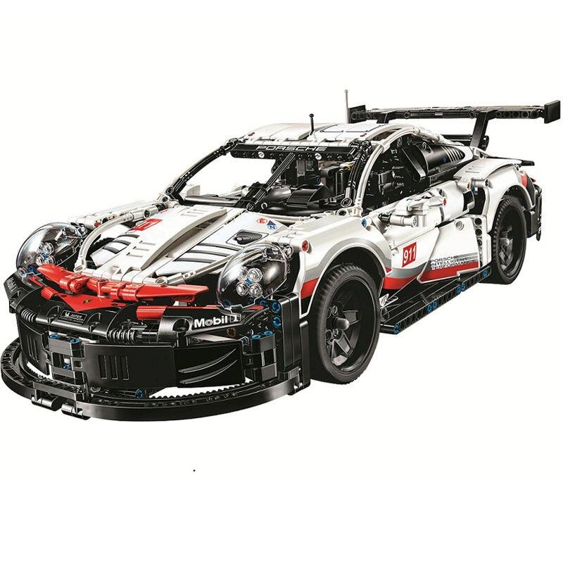 New Technic Series Formula Racing Car RSR Model 20097 90066 Lepining 42096 1580pcs Supercar Building Blocks Toy