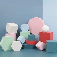 Cubo fotográfico prop ins rede de vento vermelho branco geométrico estéreo tiro adereços posando ornamentos mesa fotografia