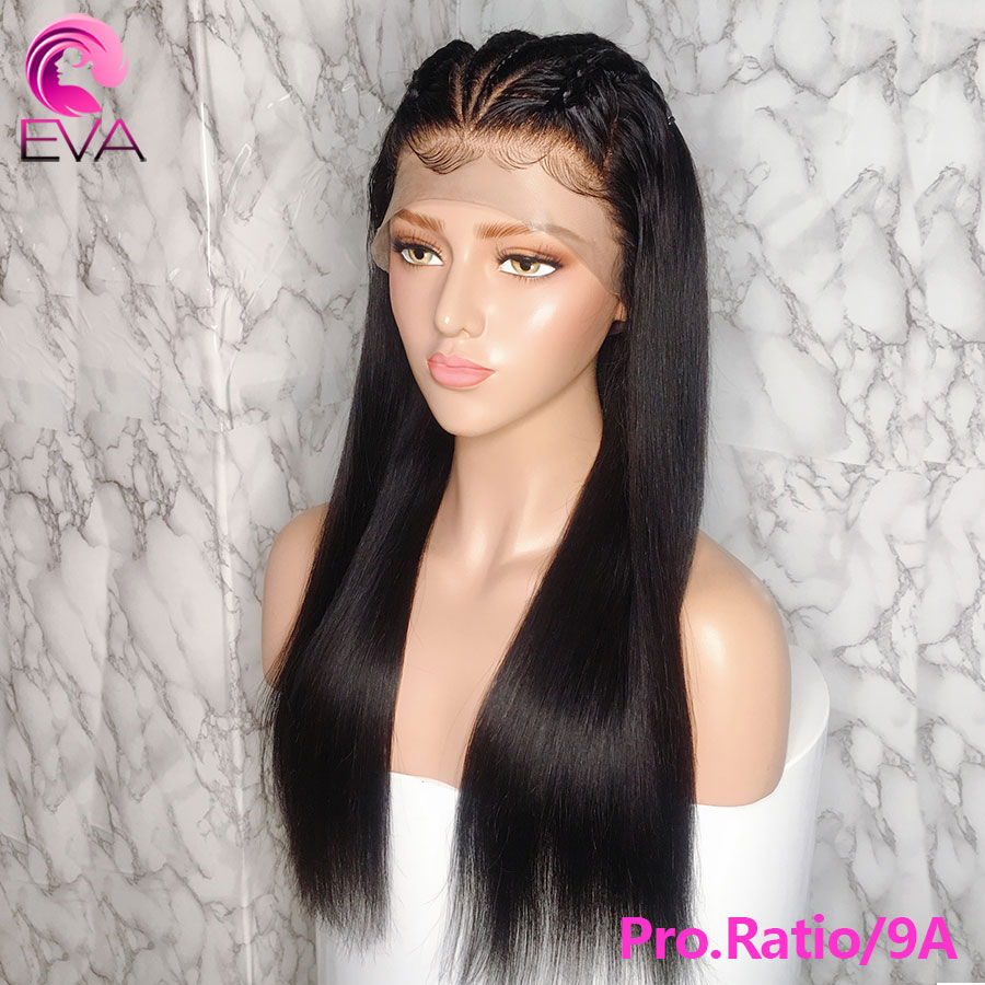 Eva Pro.Ratio 150% 13x6 Lace Front Human Hair Wigs For Black Women Pre Plucked Brazilian Remy Straight Hair Wigs With Baby Hair