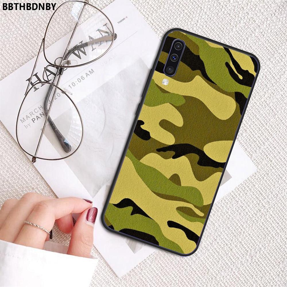 Quân Đội Xanh Lá Ngụy Trang Coque Vỏ Ốp Lưng Điện Thoại Samsung A20 A30 30 A40 A7 2018 J2 J7 Thủ J4 plus S5 Note 9 10 Plus