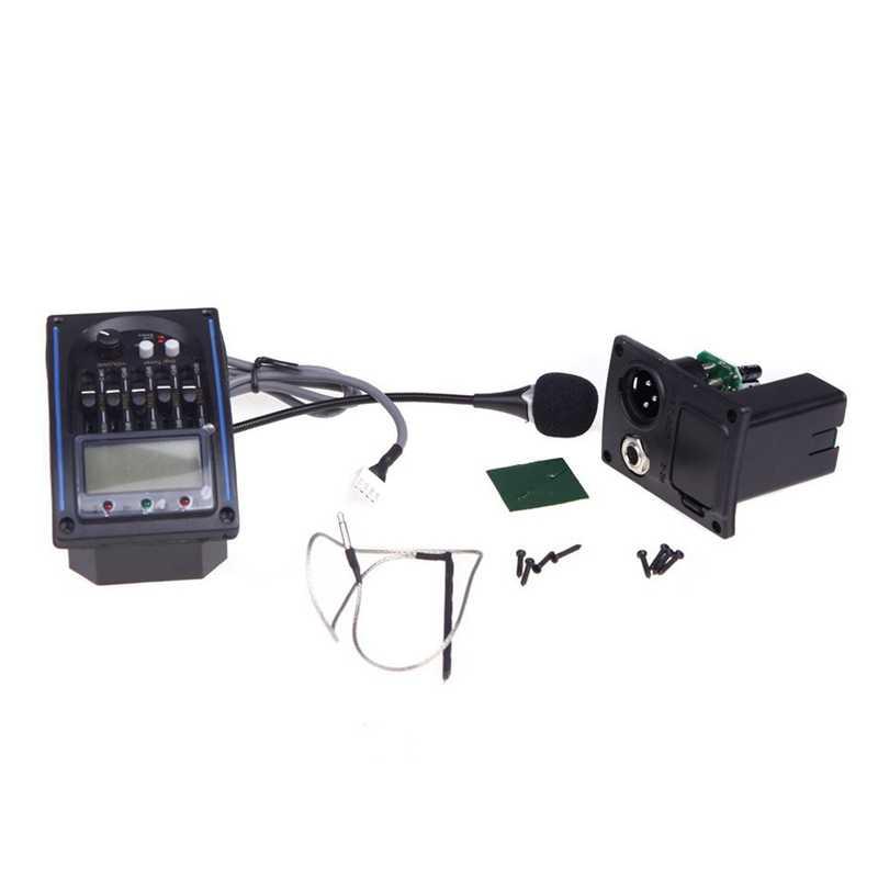 EQLC-5 5 bandas EQ ecualizador sistema guitarra acústica Preamp Piezo Pickup LCD sintonizador de pantalla