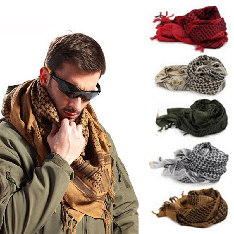 100x100cm Arab Tactical Desert Scarf Military Outdoor Hiking Scarves Army Shemagh Neck Cover With Tassel For Men Women