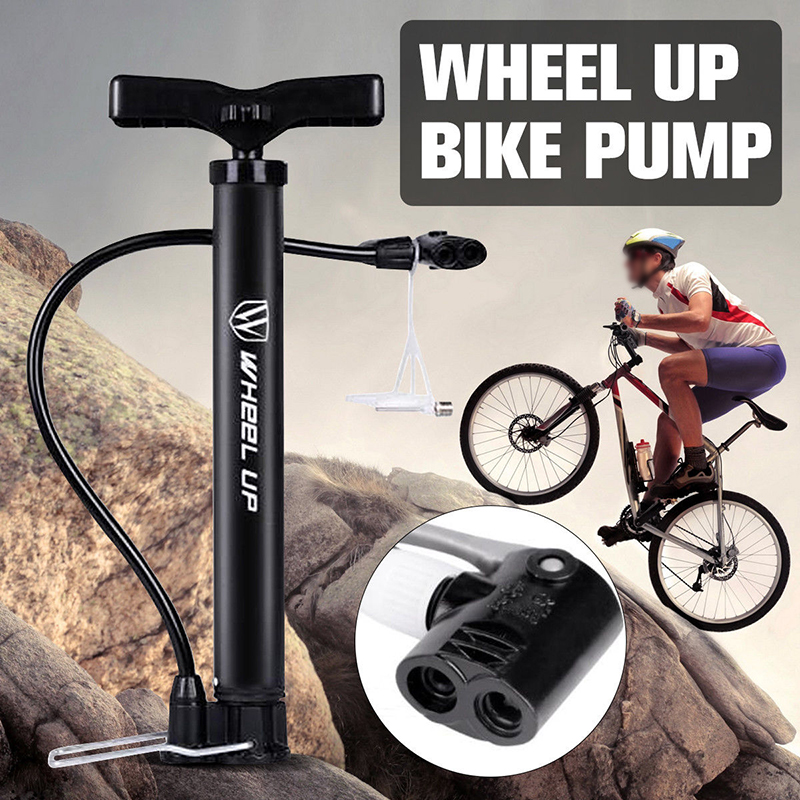 WHeeL UP Portable Bicycle Pump 120 PSI High Pressure Cycling Ball Inflator Standing Bike Hand Pump Motorcycle Tyre Hand Inflator