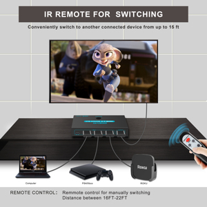 Image 4 - Sgeyr Hdmi 2.0 Switch 3X1 4K @ 60Hz 3 Port Hdmi Switcher 3 In 1 Out met Ir Afstandsbediening Hdmi 2.0 Hdcp 2.2 Voor Xbox PS3/4 Hdtv