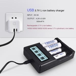 Image 2 - PALO écran LCD USB 14500 18650 chargeur de batterie 3.7V Li ion chargeur de batterie Rechargeable pour 16350 18500 18650 14500