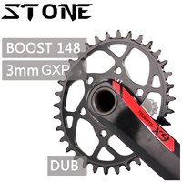 Stone Chainring Oval Boost 148 DUB GXP 3mm Offset for X9 X0 XX1 X01 X7 S1400 Tooth 30t 32 34T 36 38T MTB Bike Chainwheel for sram gxp 3 mm