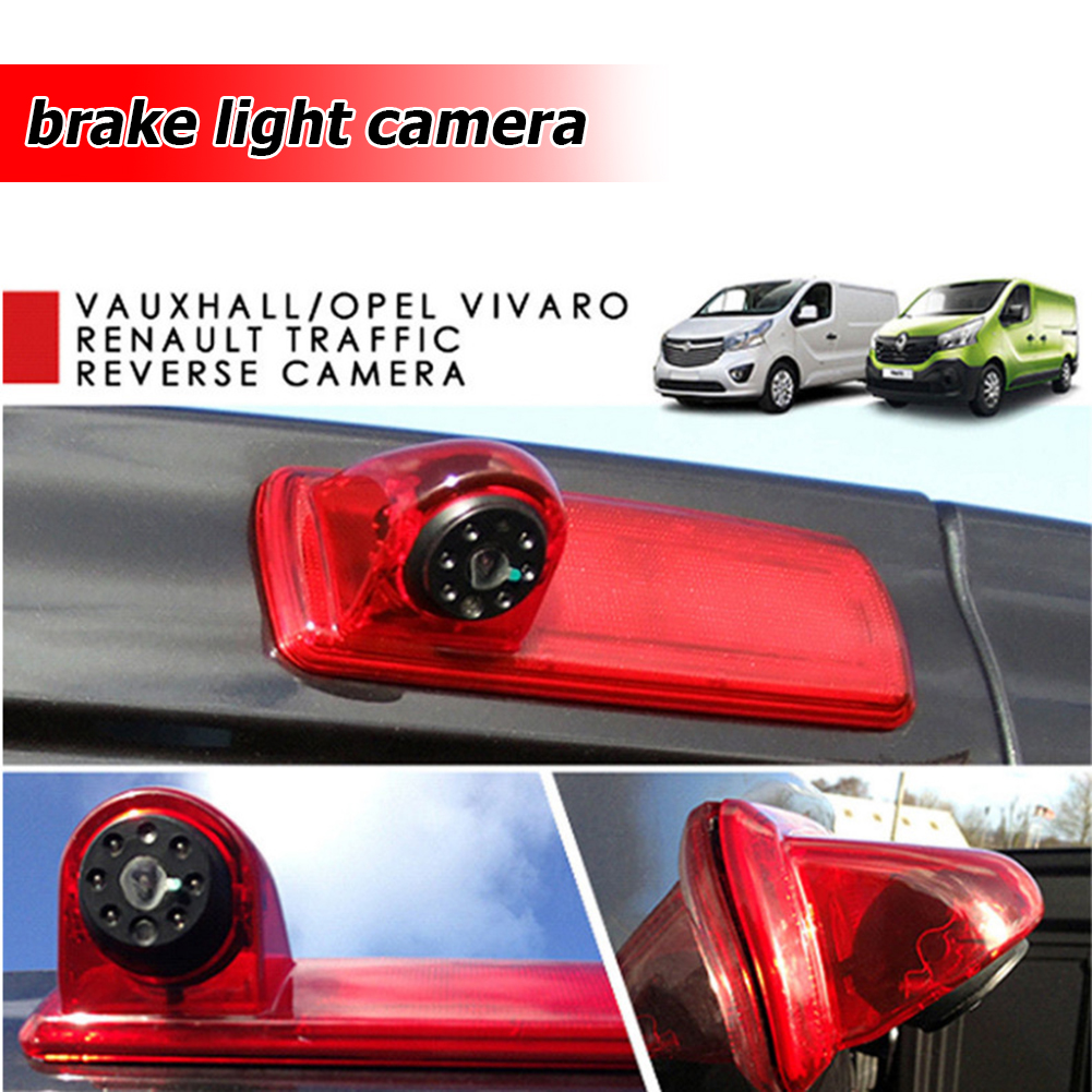HD Rear View Camera IP68 Waterproof 170-degree Wide Viewing Angle Third Brake Light Camera For Opel Vivaro Renault Trafic 2014