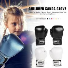 2pcs Professional Boxing Training Fighting Gloves PU Leather Kids Breathable Muay Thai Sparring Punching Karate Kickboxing Glove цена