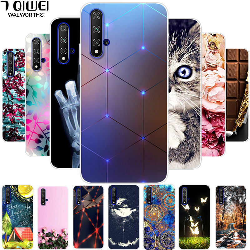 For Huawei Honor 20 Honor20 Case Soft TPU Silicone Phone Case For Huawei Honor 20 Covers Fashion Slim On Honor 20 Pro 20Pro Capa