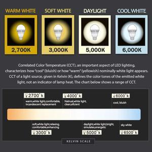 Image 4 - E26 E27 lumière LED ampoule A19 9W lampe 60W équivalent 5000K lumière du jour 2700K blanc chaud pour intérieur logement décoration de la maison 6Pack