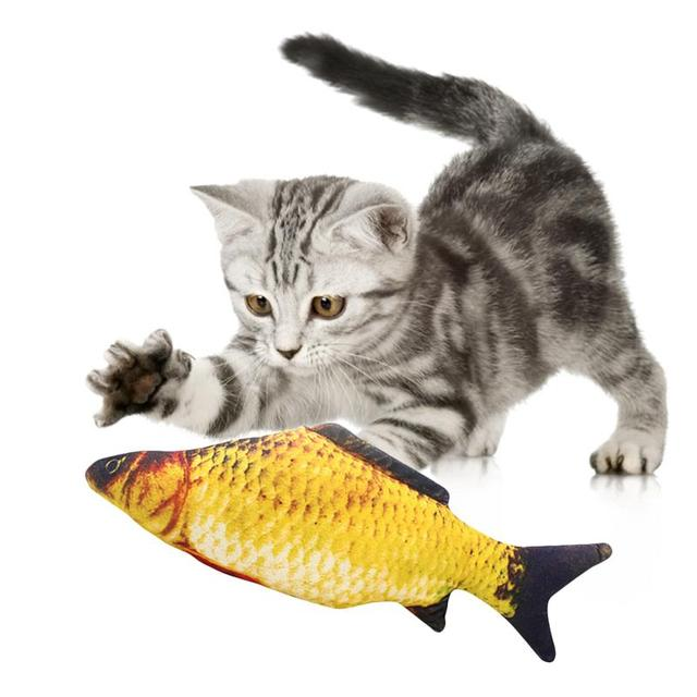 Pet Soft Plush 3D Fish Shape Cat Toy Interactive Gifts Fish Catnip Toys Stuffed Pillow Doll Simulation Fish Playing Toy For Pet 4
