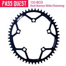 Pass quest 130bcd овальное кольцо цепи велосипеда mtb велосипедная