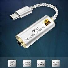 Przenośny dla iBasso wzmacniacz słuchawkowy Adapter DC01 DC02 USB DAC na telefon z systemem Android komputery, tablety 2.5mm/3.5mm HiFi HiRes Adapter