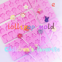 12pcs Cake Biscuit Baking Mold Candy Maker 8 Kinds Of DIY Ice Tray Tools Household Lollipop Mold Stick Tray Cake Mold(China)