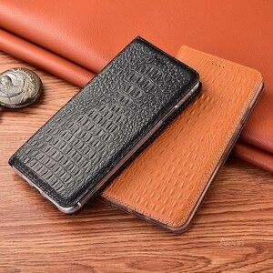Image 2 - Luxury Crocodile Phone Case For Xiaomi Redmi Note 9 Pro Max Coque Genuine Flip Leather For Redmi Note 9S 8 Pro 8T 8 T Cover Case