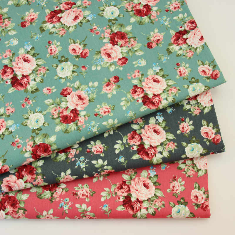 Retro Flower 100% cotton fabrics for DIY Sewing textile tecido tissue patchwork bedding quilting