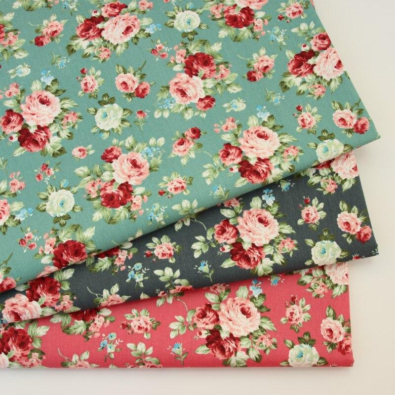Retro Flower 100% cotton fabrics for DIY Sewing textile tecido tissue patchwork bedding quilting