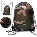 Камуфляжный рюкзак на шнурке  спортивная сумка для путешествий  Спортивная уличная сумка  легкая YS-BUY