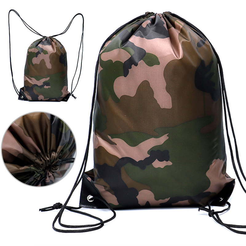 Camouflage Backpack Drawstring Gym Bag Travel Sport Outdoor Bag Lightweight YS-BUY