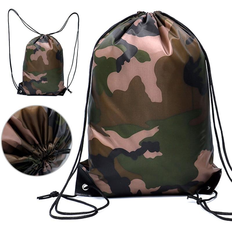 Camouflage Rucksack Kordelzug Gym Bag Reisen Sport Im Freien Beutel Leichte YS BUY-in Sporttaschen-Hüllen aus Sport und Unterhaltung bei title=