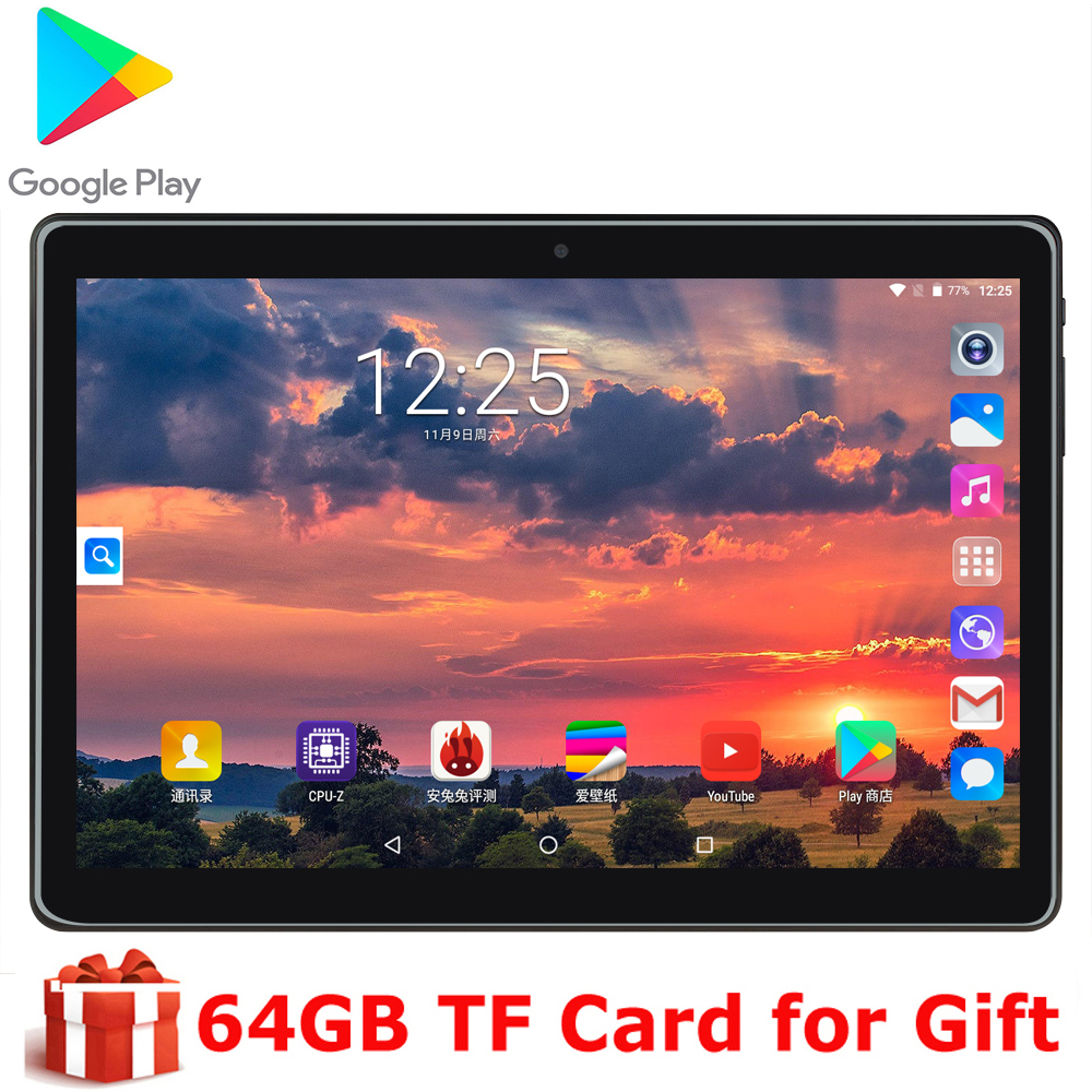2020 New Office Game Tablet 10 Inch Quad Core MTK 3G Wifi Network Phone Call 1280X800 ips Dual Camera Android 9.0 os Phablet image