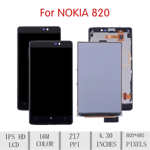Image 2 - ORIGINAL For NOKIA Lumia 820 LCD Touch Screen Digitizer Assembly For Nokia 820 Display with Frame Replacement RM 825 N820 Screen