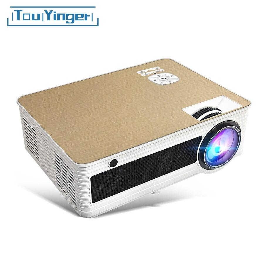 Touyinger led m5 projetor completo hd vídeo 4000 lúmen 1280*720 p (android bluetooth 5g wifi 4 k opcional) beamer cinema em casa 3d