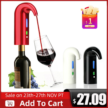 Portable electric wine pourer, Smart Wine Decanter Automatic Red Wine Pourer Aerator Decanter Dispenser Wine Tools Bar Accessori image