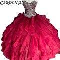 Gardlilac Quinceanera платье бальное платье Многоуровневое блестящее Плиссированное длинное вечернее платье для выпускного вечера 16 платьев