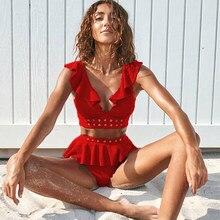 Novos biquínis de cintura alta, moda praia, biquíni feminino, push up, maiô, moda praia, verão, 2020