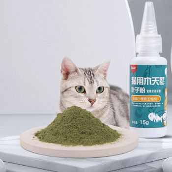 Natural Silvervine Powder Organic Cat Catnip Cleaning Teeth Kitten Cat Snacks Increased Appetite Cat Toy Pet Healthy Supply C42 image