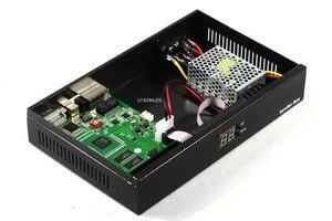 Image 4 - Синхронизация Крытый открытый светодиодный видео экран отправителя коробка с Linsn TS802 отправка карты Meanwell источник питания включен