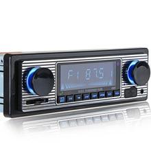 Винтажный стерео радио Автомобильный музыкальный аудио FM USB MP3 плеер Aux Классический Bluetooth ЖК-дисплей