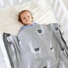 Couverture tricotée pour lit de bébé, couverture dalpaga lange demmaillotage douce, accessoire pour poussette