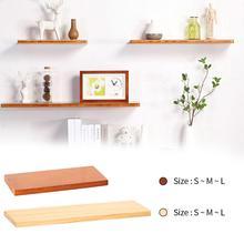 Твердая деревянная настенная полка настенный держатель для подвесного хранения фоновая настенная декоративная стойка для гостиной кухни DIY домашний декор полок