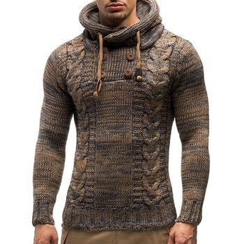 Jesienne zimowe męskie swetry z kapturem męskie swetry bawełniane swetry męskie moda Casual szare wino Slim męskie swetry tanie i dobre opinie HKTY CN (pochodzenie) Stałe Na co dzień Poliester Komputery dzianiny O-neck Pełna NONE REGULAR STANDARD Brak Standardowy wełny