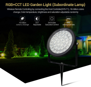 MiBOXER SYS-RC2 15W RGB+CCT LED Garden Light DC24V Subordinate Lamp IP65 Waterproof Inserted grass lamp spotlight