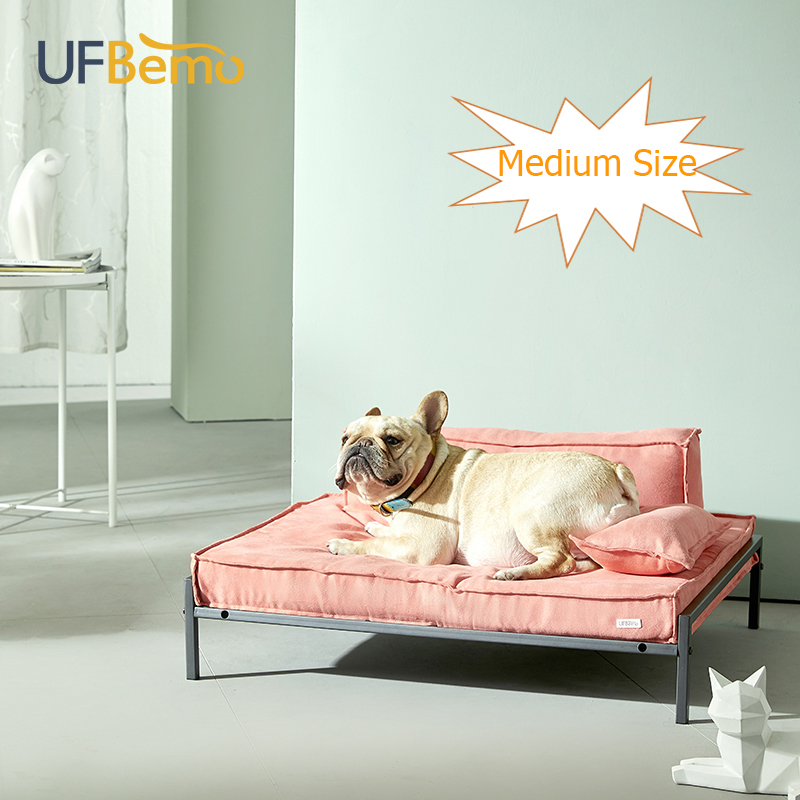 UFBemo Luxury Dog Bed House M Soft Brandreth Cat Bed Memory Foam Waterproof Solid Removable Cover Suede for Puppy Pet Couch Sofa