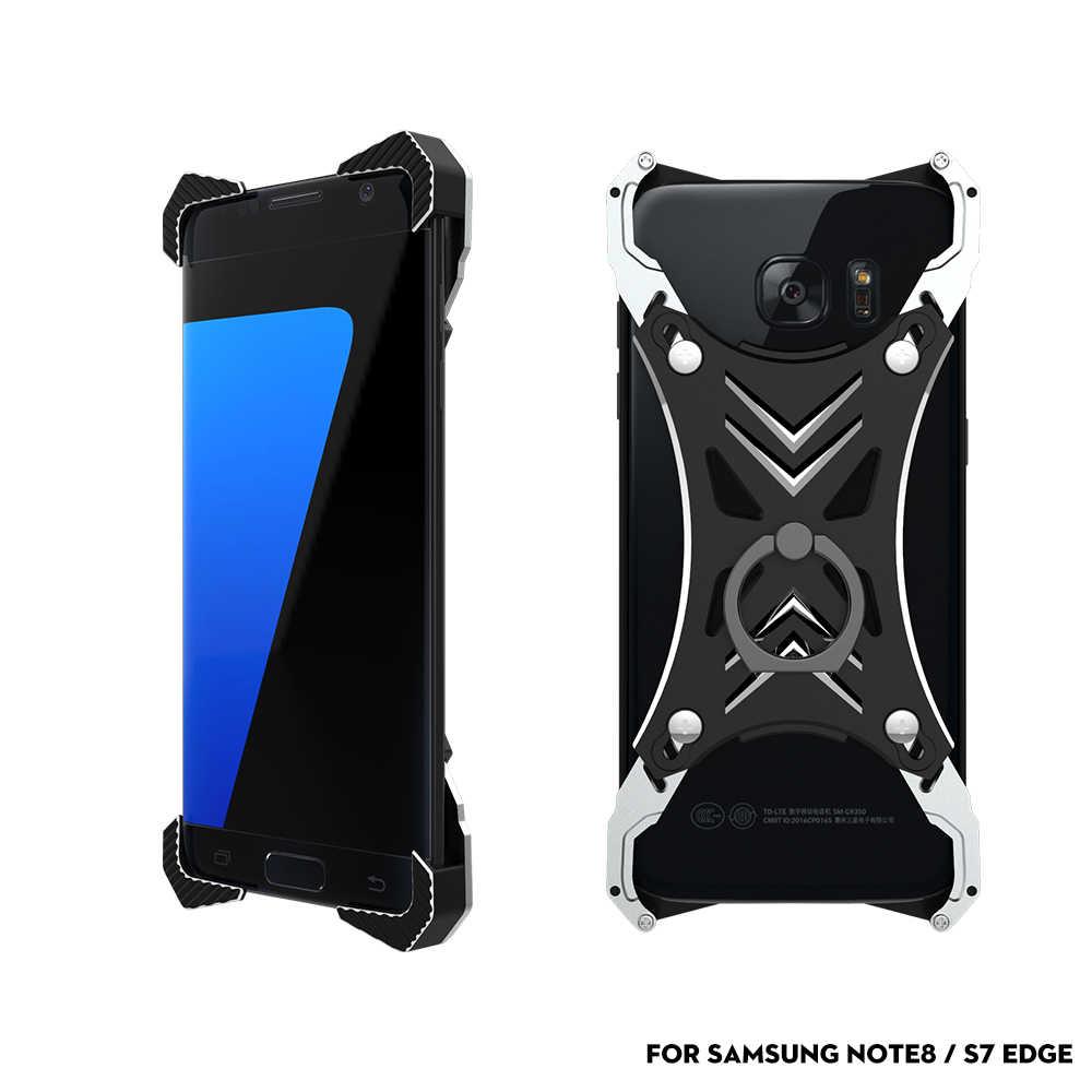 Luxury Alluminum Alloy Frameless Bracket Case for Samsung Note 8 S7 Edge S8 Plus Phone Case Metal Bumper Funda Coque Frame Cover