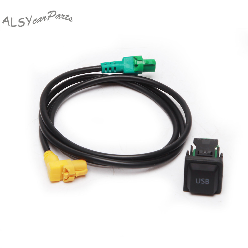 YIMIAOMO OEM 5KD 035 726 A RCD510 <font><b>USB</b></font> Input <font><b>USB</b></font> Connector Switch + <font><b>USB</b></font> Cable Harness For VW Passat B6 Golf Jetta Scirocco RCD310 image