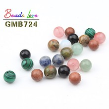 Natural Stone Half Hole Ball Bead 8 10 12mm charms Round Loose Beads For Jewelry Making Diy Bracelet Necklace Earring 10/20pcs
