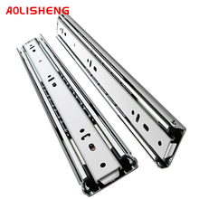 AOLISHENG heavy rail 51 wide slide rail load-bearing cabinet thickened three-section rail drawer rail industrial slide rail