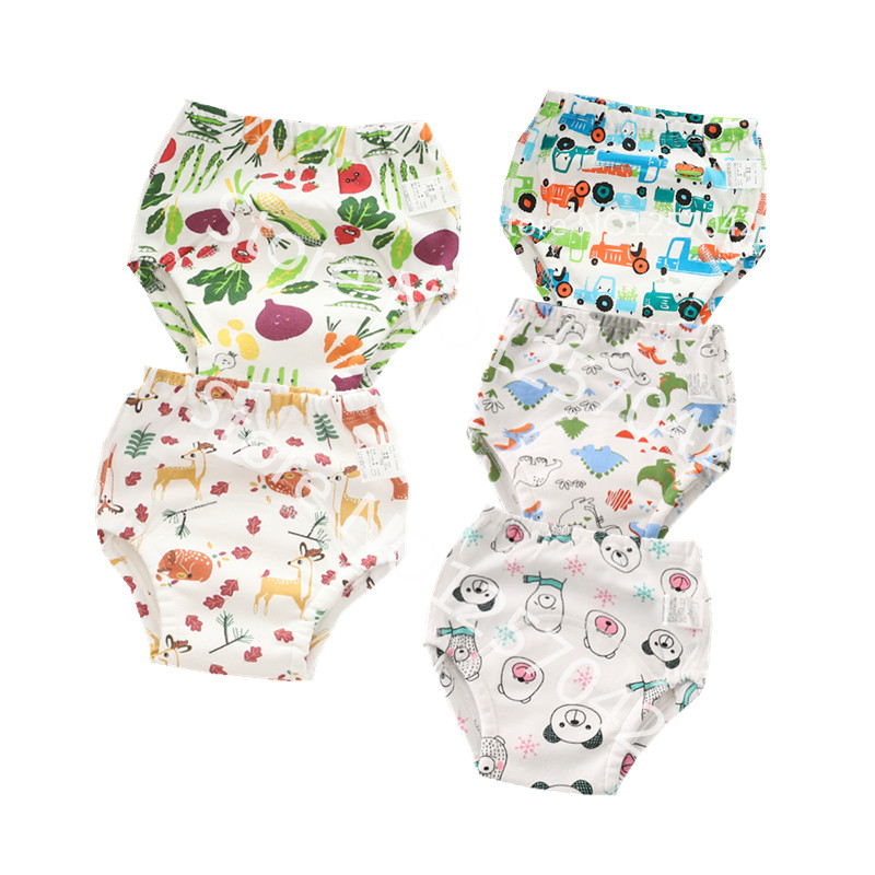 1Pcs 6Layers Gauze Baby Reusable Diapers Cloth Nappies Baby Training Pants Diaper Cover Infant Panties Washable Toddler Shorts