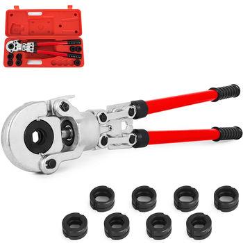 VEVOR 16-32mm rury Pex prasa narzędzia do zaciskania Crimper pex-al-pex szczypce dociskowe rura kompozytowa szczypce do zaciskania z 8 szczękami montaż tanie i dobre opinie Hand Tool Parts CN (pochodzenie) Pipe Crimping Pliers STAINLESS STEEL Do produkcji komercyjnej 16-32 mm 6 tons U16 U20 U25 U32 TH16 TH20 TH26 TH32mm
