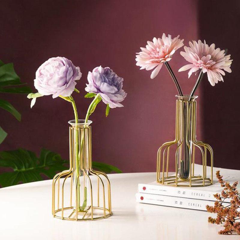 Metal European-style Hydroponics Flower Vase Free Shipping